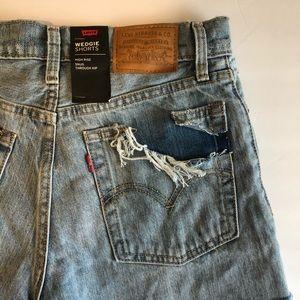Levi's premium wedgie shorts